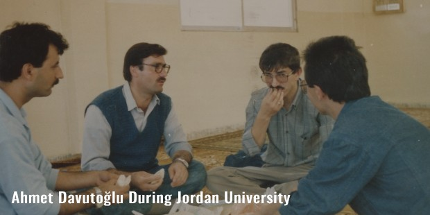 ahmet davutolu during jordan university