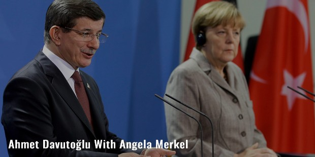 ahmet davutolu with angela merkel