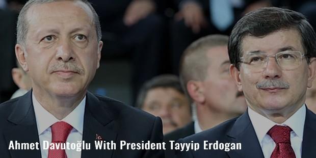 ahmet davutolu with president tayyip erdogan