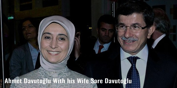 ahmet davutolu with his wife sare davutolu