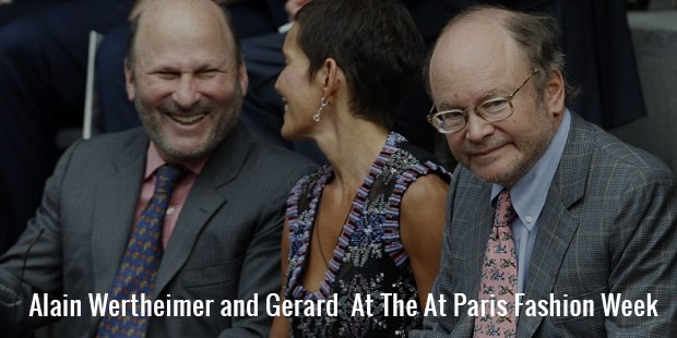alain wertheimer and gerard  at the at paris fashion week