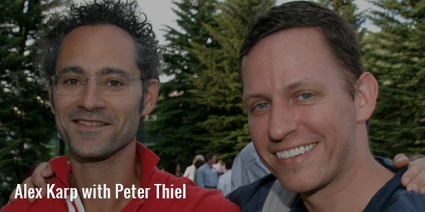 alex karp with peter thiel