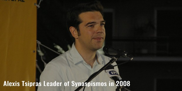 alexis tsipras leader of synaspismos in 2008