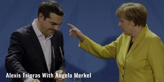 alexis tsipras with angela merkel