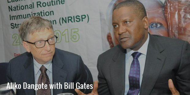 aliko dangote with bill gates