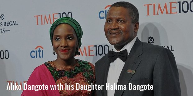 aliko dangote with his daughter halima dangote