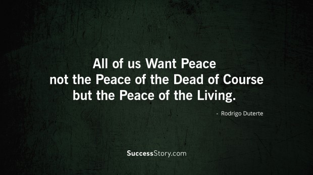 all of us want peace