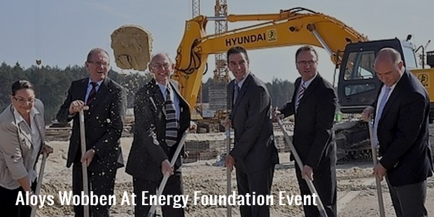 aloys wobben at energy foundation event