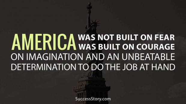 America was not built