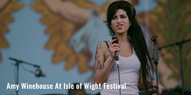 amy winehouse at isle of wight festival
