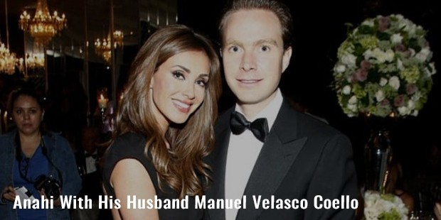 anahi with his husband manuel velasco coello