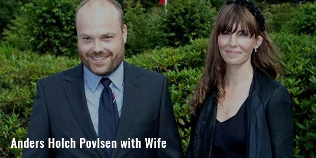 anders holch povlsen with wife