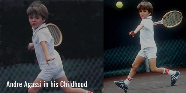 andre agassi in his childhood