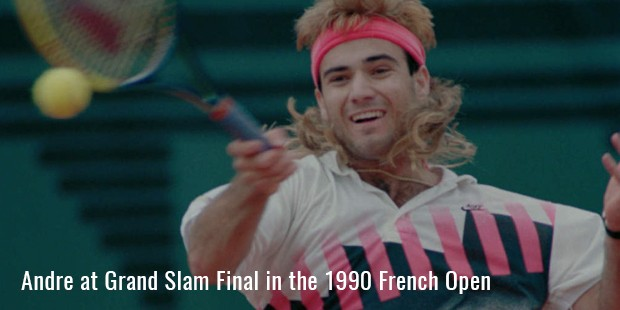andre at grand slam final in the 1990 french open