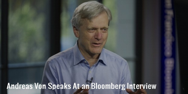 andreas von speaks at an bloomberg interview