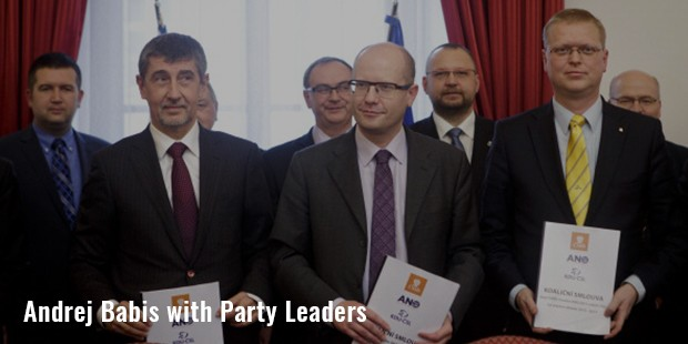 andrej babis  with party leaders