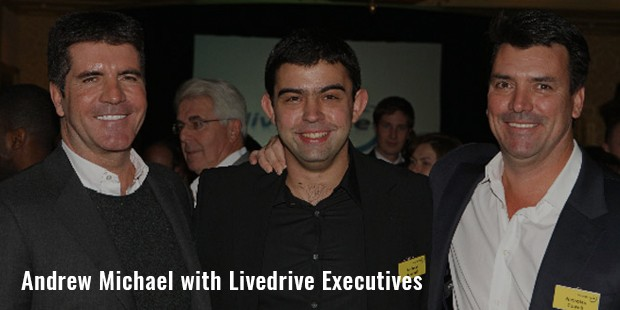 andrew michael with livedrive executives