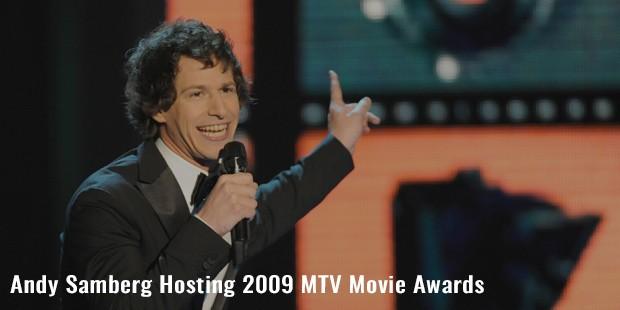 andy samberg hosting 2009 mtv movie awards