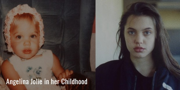 Angelina Jolie in her Childhood