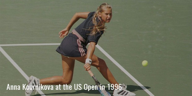 anna kournikova at the us open in 1996