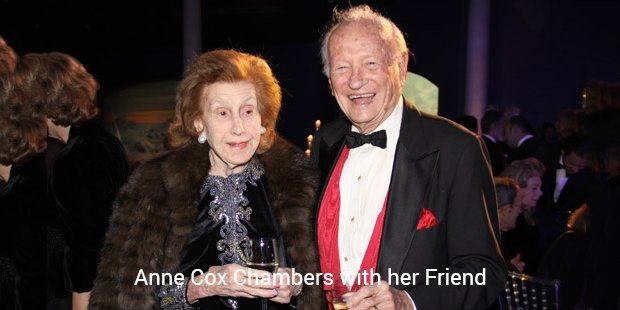 anne cox chambers with her friend