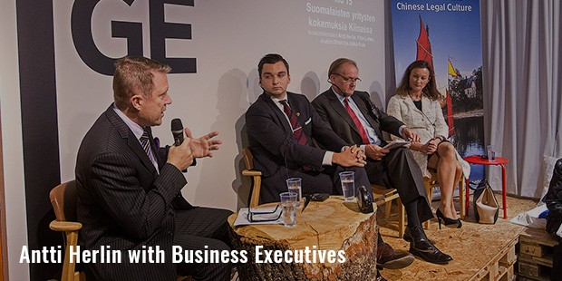 antti herlin with business executives