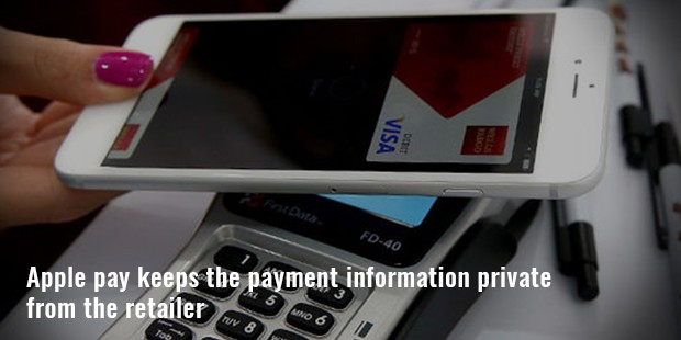apple pay keeps the payment information private