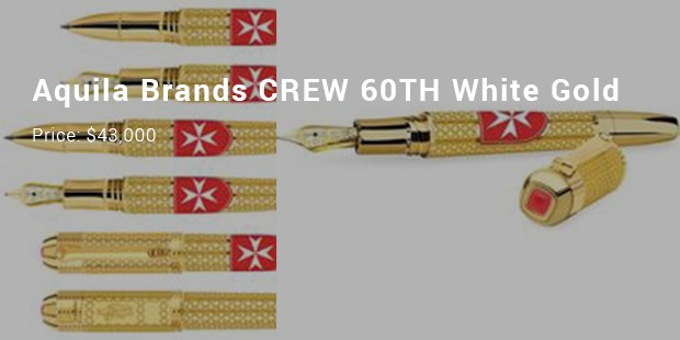 aquila brands crew 60th white gold