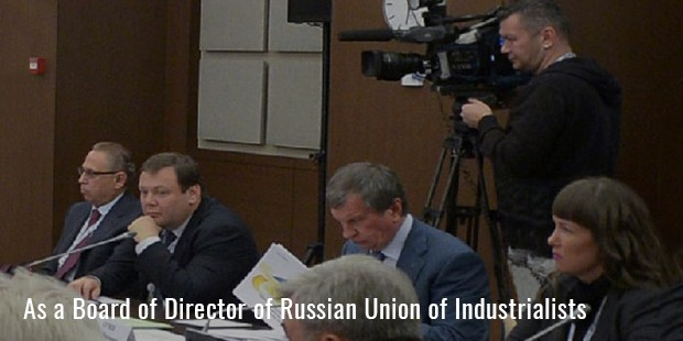 as a board of director of russian union of industrialists