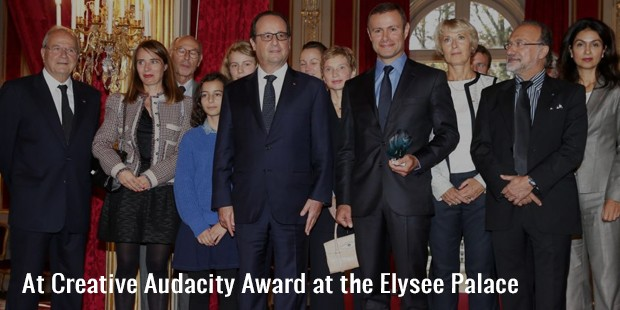 at creative audacity award at the elysee palace