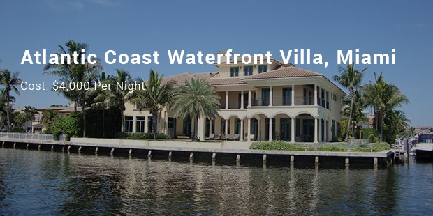 atlantic coast waterfront villa, miami