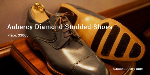 aubercy diamond studded shoes