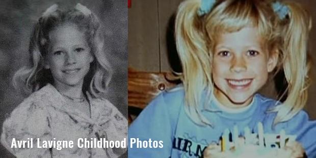 avril lavigne childhood photos
