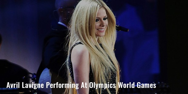avril lavigne performing at olympics world games