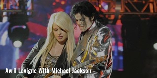 avril lavigne with michael jackson