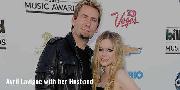 avril lavigne with her husband