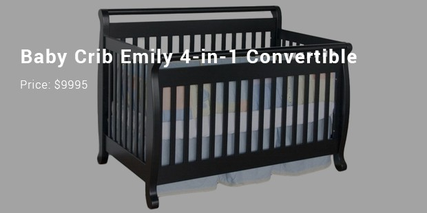baby crib emily 4 in 1 convertible