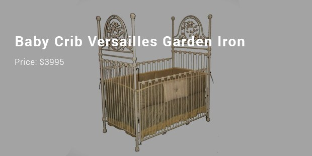 baby crib versailles garden iron