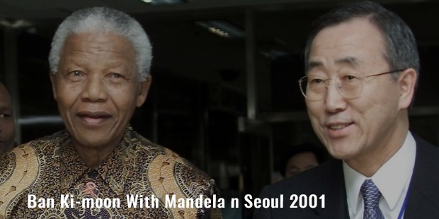 ban ki moon with mandela n seoul 2001