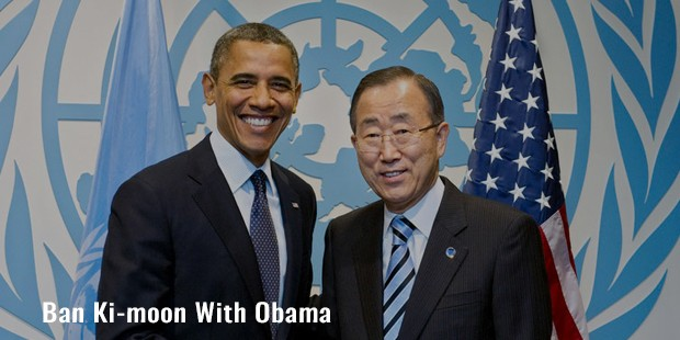 ban ki moon with obama
