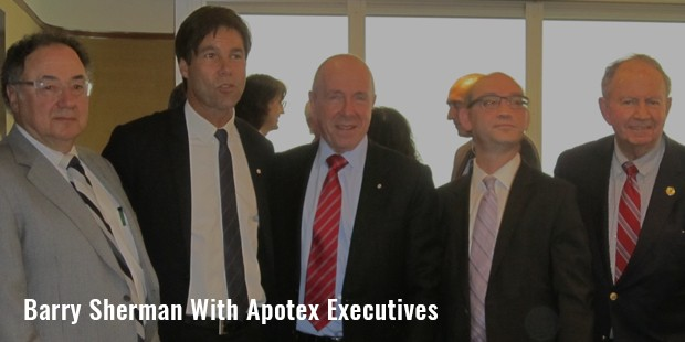 barry sherman with apotex executives