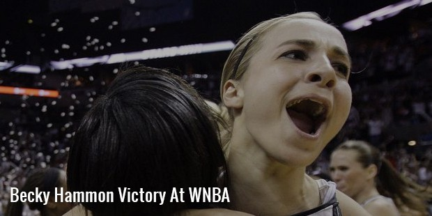 becky hammon victory at wnba