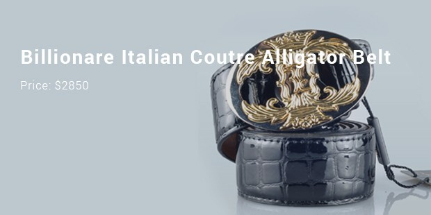 billionare italian coutre alligator belt