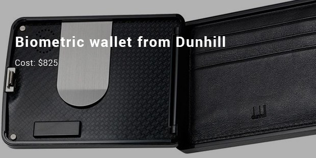 Biometric wallet from Dunhill