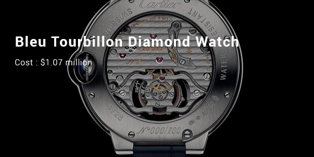 bleu tourbillon diamond watch
