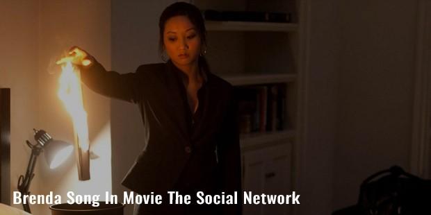 brenda song in movie the social network