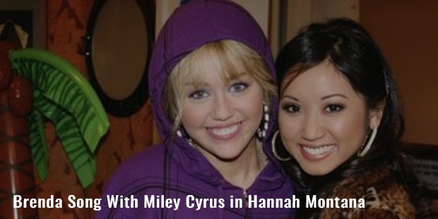 brenda song with miley cyrus in hannah montana
