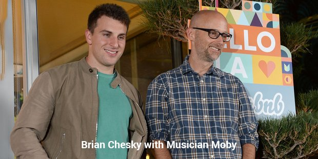 brian chesky with musician moby