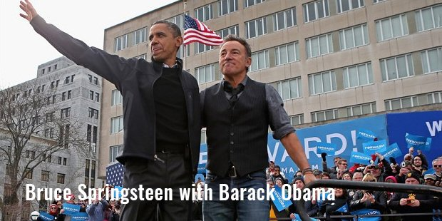 bruce frederick joseph springsteen with barack obama