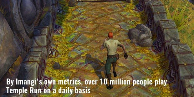 by imangi s own metrics, over 10 million people play